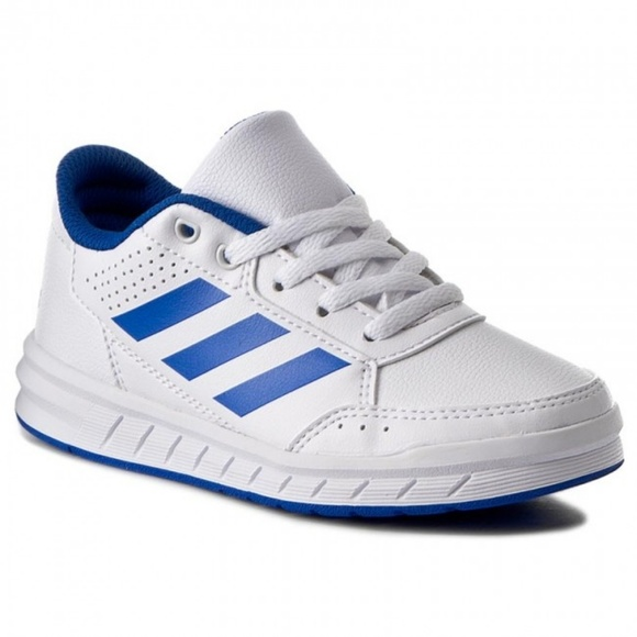NEW ADIDAS AltaSport K Boys Shoes White/Blue BA954